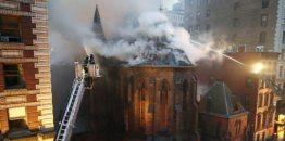 Cztery płonące cerkwie na Paschę w różnych częściach świata