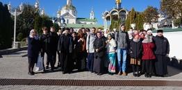Hajnowscy uczniowie w Ławrze Poczajowskiej