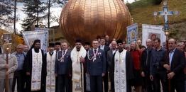 Poświęcenie kopuły i krzyża dzwonnicy w Krynicy Zdrój
