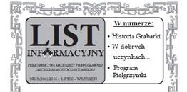 """Ukazał się nowy numer """"Listu informacyjnego"""""""