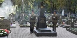 Upamiętnienie ukraińskich żołnierzy na prawosławnym cmentarzu na Woli