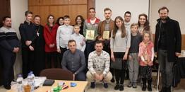 Paweł Dobra na spotkaniu z młodzieżą we Wrocławiu.