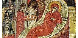 Kondakion świętego Romana Melodosa (cs. Sładkopiewca) na święto Narodzenia Bogurodzicy