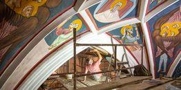 Kolejne etapy odtwarzania fresków w Supraskim Monasterze