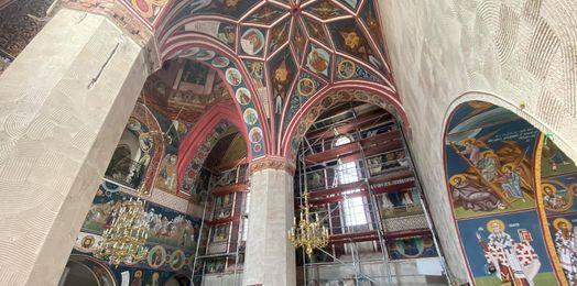 Supraśl: rekonstrukcja fresków na ścianie północnej