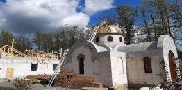 Postępy przy rozbudowie monasteru w Turkowicach