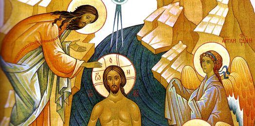 św. Teofan Pustelnik: Chrzest Pański. Św. Jan Chrzciciel