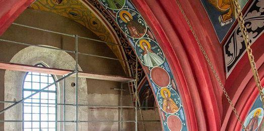 Supraśl: kolejny etap rekonstrukcji fresków